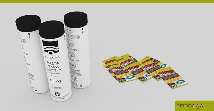 Diseño de flyers y etiqueta para envase para Triandgo.