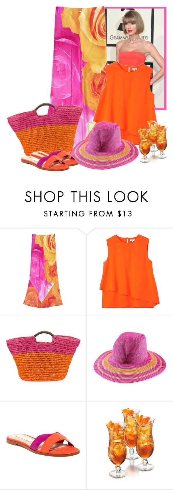 """""""SAME SHOES AND HAT"""" by bodangela ❤ liked on Polyvore featuring Roberto Cavalli, Kenzo, Cappelli, T+C by Theodora & Callum and Diane Von Furstenberg"""