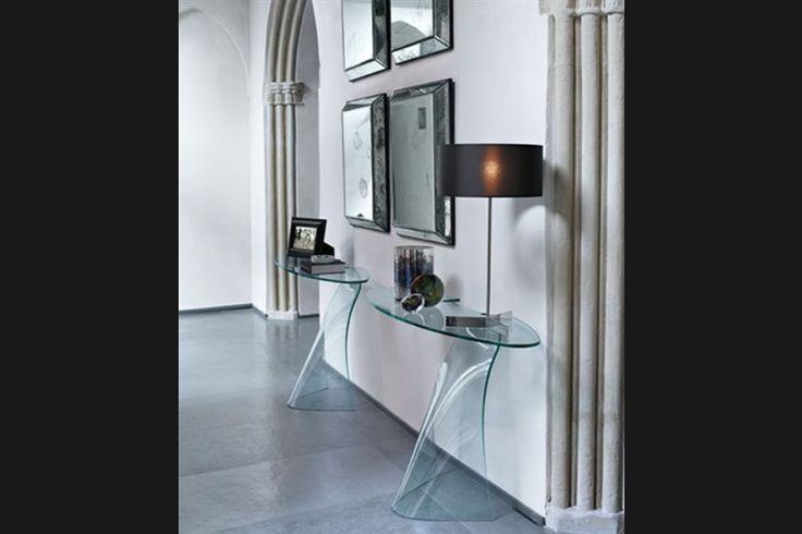 Design side-table DAMA | FIAM | Italian design | GlazenDesignTafel.nl | design by Makio Hasuike | Interior design | vidre glastoepassingen, Leiden