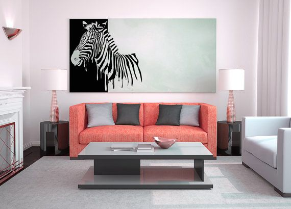 Zebra Made Of Dripping Paint Art Decal By VinylWallAdornments. Zebra  CurtainsAnimal BedroomSticker ...