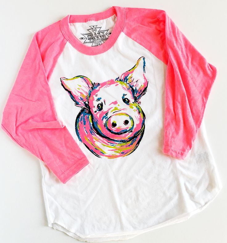 A must for every stock show kids closet! These hog baseball shirts are such a fun way to express your personal livestock love. Fun, neon colors, cute floral des