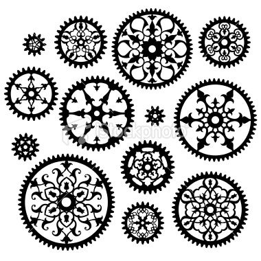 ornate gear patterns