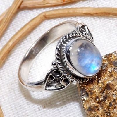 Buy Online Blue Fire Moonstone, Rainbow Moonstone Ring, 925 Sterling Silver Ring, Handmade Ring, Dailywear Ring, #RainbowMoonstoneRing #StackRings #DelicateRings #MoonstoneRings #RainbowMoonstone #HandmadeRings #Handmade #EtsyFinds #Etsy www.cosmocrafter.com