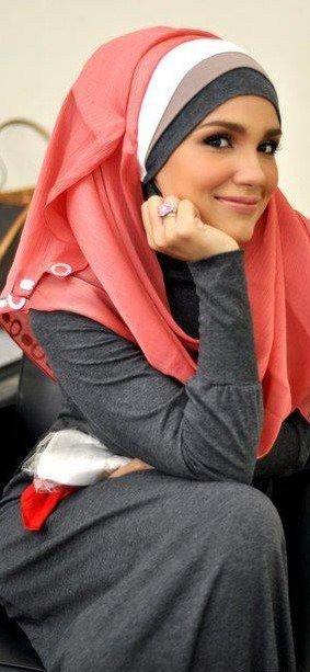 multi-layered look.       #hijab