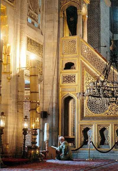 Minbar (pulpit) . Yeni Cami Mosque.Istanbul