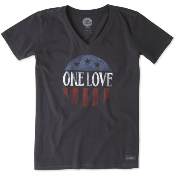 WOMEN'S ONE LOVE AMERICANA CRUSHER VEE