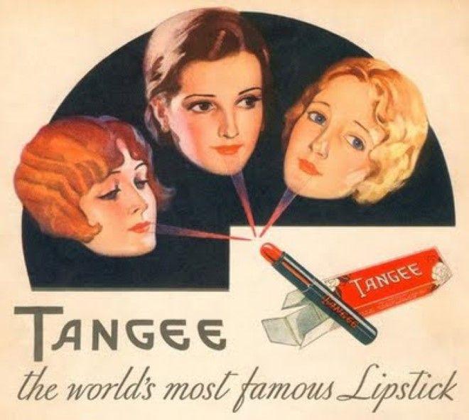 Pubblicità rossetto rosso anni '30