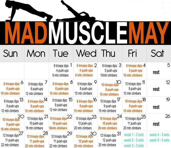 monthly workout schedule