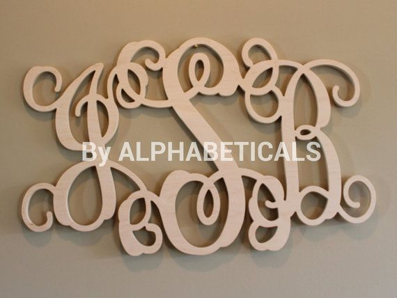 Etsy Initial Wall Decor : Initials monogram wall decor wooden letters hanging