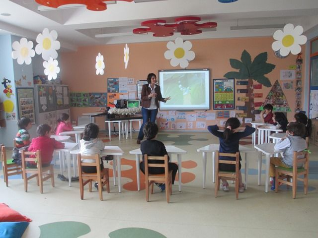 Izmir Yonder Schools Formation of learners Butterfly viewed!