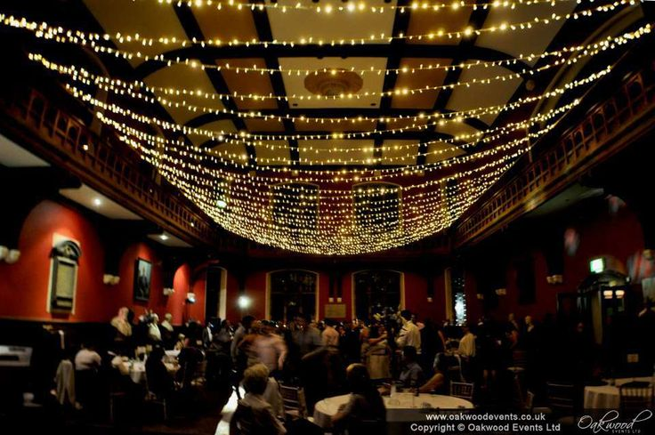 Fairy light canopy for a stunning #wedding at the OU