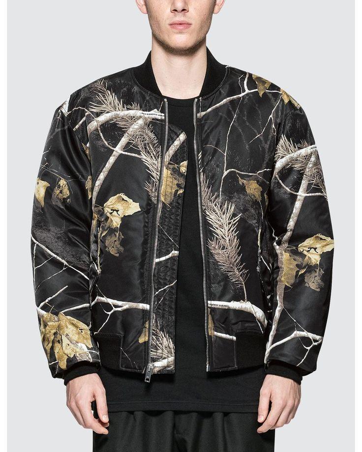 Alexander Wang | Black Winter Camo Bomber Jacket for Men | Lyst