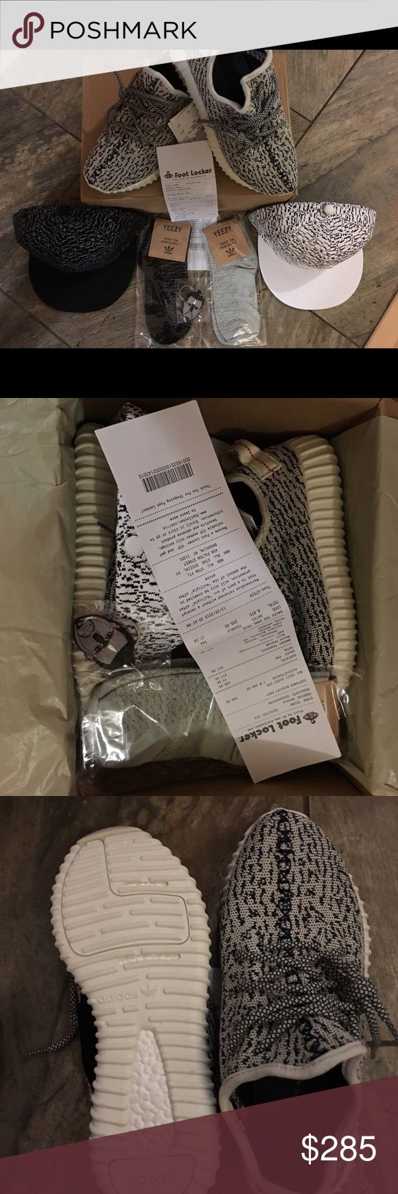Bundle!! Turtle dove Yeezy boost 350 size 7-8!!!! I have size 7 and 8 available. Brand new never worn. Very comfortable. Price is not firm so feel free to make an offer. These are black and white. Everything you see in the photos will be included when you buy. Shipping is the next day you buy. Feel free to message me if you have any questions. Adidas Shoes Athletic Shoes