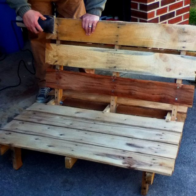 Pallet Seating For A Fire Pit Pallet Chair Or Micro