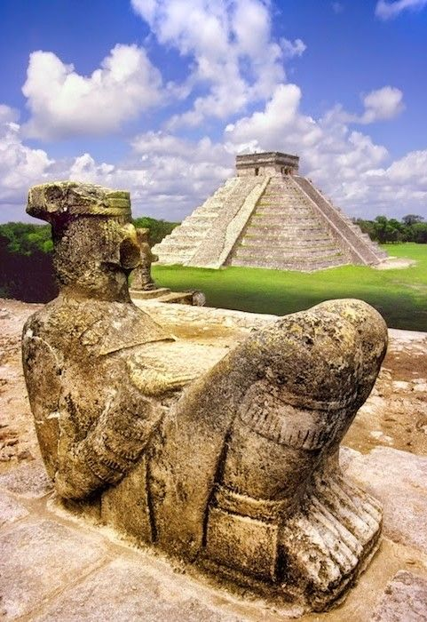 Chichen Itza Ruins - Mexico: is an ancient Maya city located in central Yucatán. It was founded around c.514 by the Itzá, abandoned (c.692) and reoccupied (c.928) by Kulkulcán between 968 and 987. I visited it on a sizzling August in 1976, while on a bus excursion from Merida. Armed with my camera and film, the ruins were very impressive but what amazed me most was the surrounding thick green jungle, stretching as far as the eye could see.