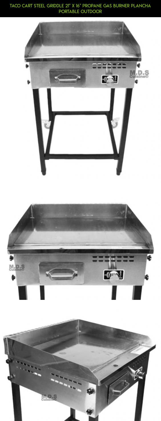 """Taco Cart Steel Griddle 21"""" x 16"""" Propane Gas Burner Plancha Portable Outdoor #racing #drone #shopping #outdoor #parts #fpv #tech #gadgets #products #cooking #plans #kit #technology #camera #ware"""