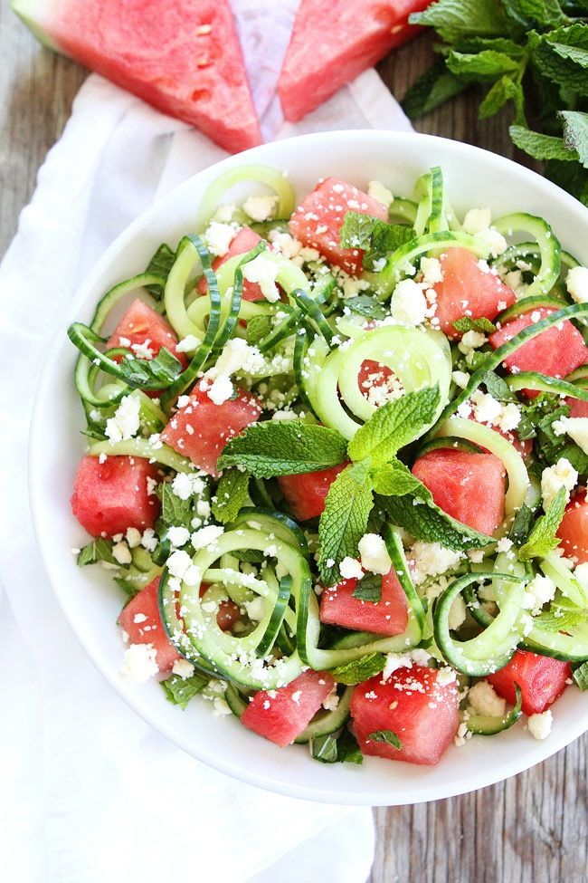 I've seen watermelon, mint, feta salads, but this recipe is different! Thanks to…