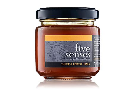 Thyme honey from Greece.  One of the best honey varieties worldwide. The mix gives-up an intense honey aroma, has a bright yellow-orange color with reddish tones and it is full bodied with a characteristic sugar flavor that lingers in the mouth.