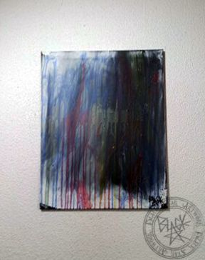 """Queen of Clubs""   16"" x 20""   Acrylic on canvas   Black Star Artwork by Leonard Walsh  www.facebook.com/BlackStarArtwork http://bit.ly/1bCN2xI"