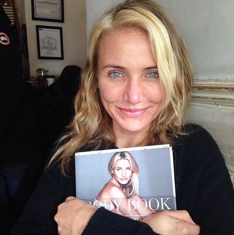 "Cameron Diaz goes without makeup and shares The Body Book in one of her life's ""proudest moments"" via Instagram."