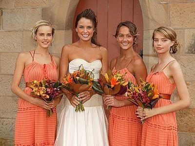 Martha with her three bridesmaids tasha, cassie and matilda