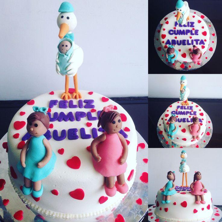 Torta Cumpleaños Abuela Tata-Sabores Tortas & Postres