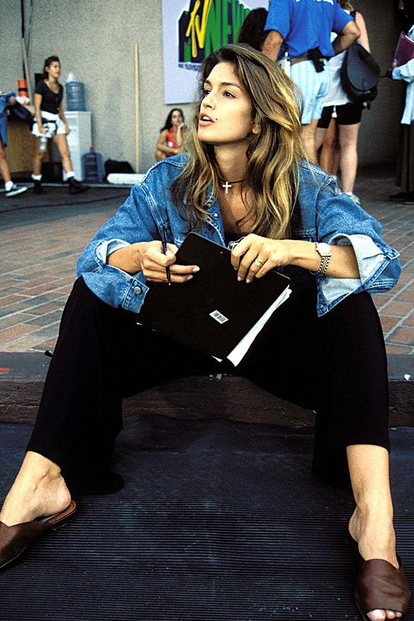 A Look Back at Cindy Crawford's Inimitable All-American Denim Style