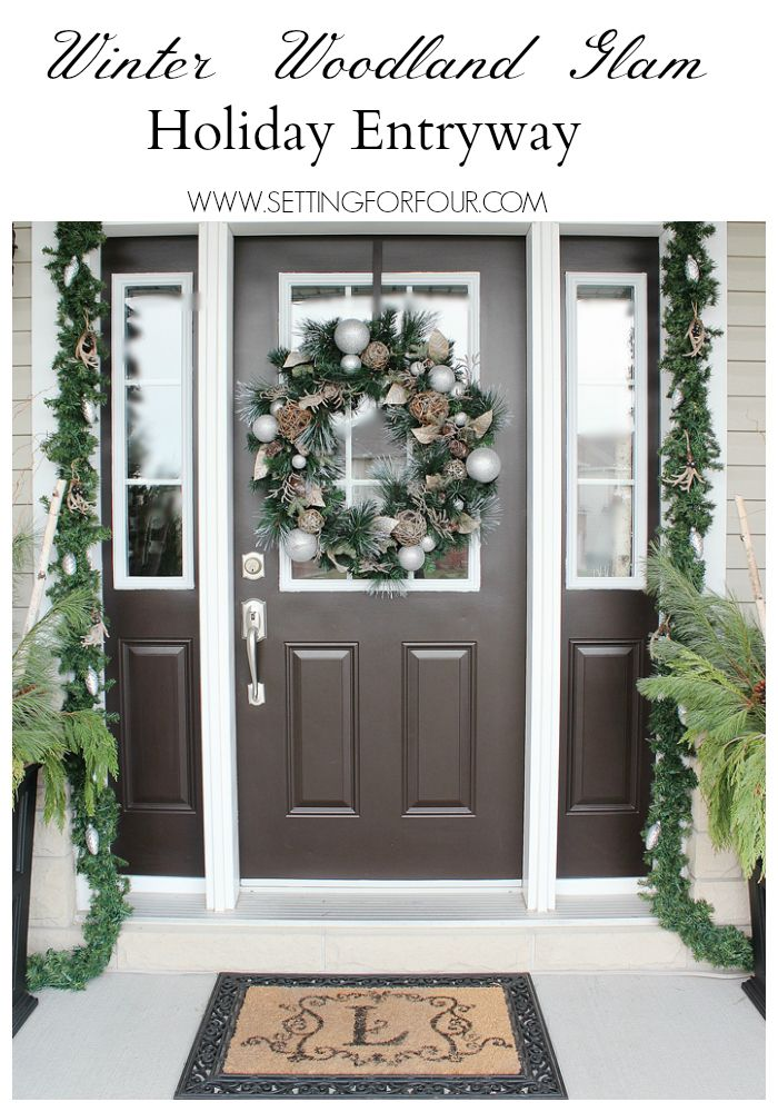 25 best ideas about christmas entryway on pinterest for Outside foyer designs
