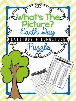 Hidden Picture Latitude and Longitude Puzzle: Earth Day