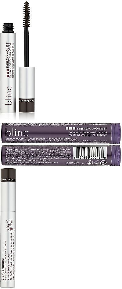 Eyebrow Liner and Definition: Blinc Eyebrow Mousse Dark Brunette New -> BUY IT NOW ONLY: $32.19 on eBay!