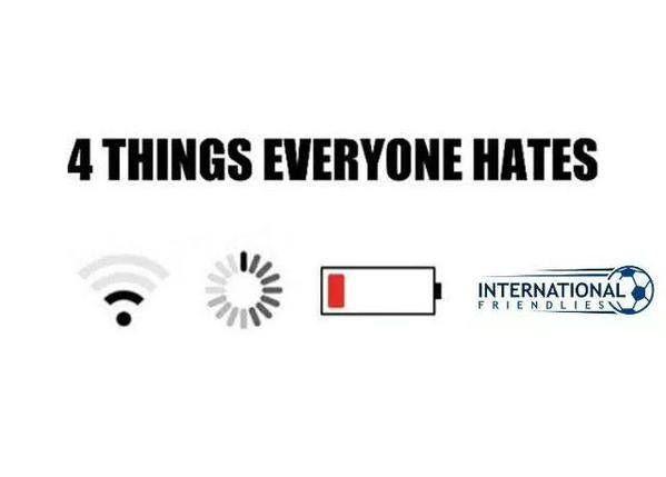 Międzynarodowe mecze towarzyskie w czterech znienawidzonych rzeczach • Oto 4 rzeczy które każdy nienawidzi • Wejdź i zobacz więcej >> #Soccer #Sport #Football #Piłkanożna