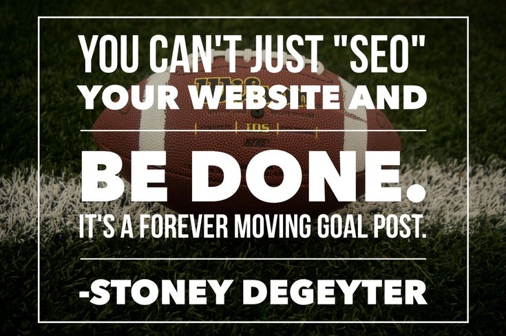 #SEO is not a one-time deal!