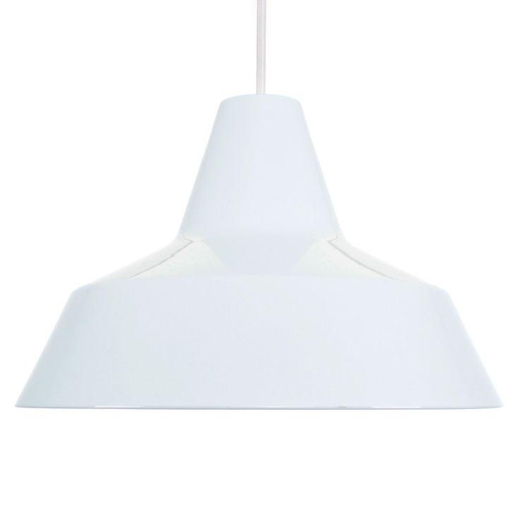 WHITE WORKSHOP pendant - Nordisk Solar Compagni - 1980s - Iconic Danish vintage design. Industrial white enameled hanging lamp! by DanishVintageDesigns on Etsy
