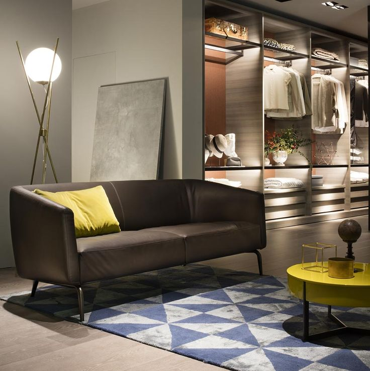 New KAIWA sofa by Matteo Nunziati that creates an elegant living area together with SIGN side tables by Roberto Lazzeroni. Lema S.p.A. Salone del Mobile, Design Week 2016