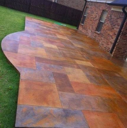 How to pattern stain a patio