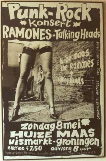 Talking Heads + Ramones poster - must have been quite a konsert - such different energies