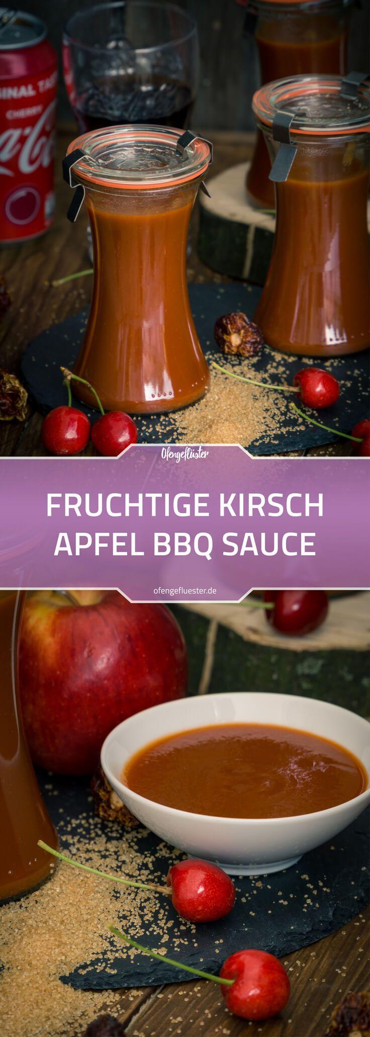 Rezept für eine fruchtige Kirsch Apfel BBQ Sauce