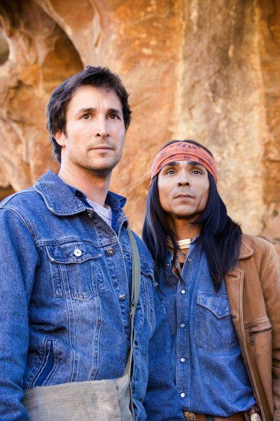 Still of Noah Wyle and Zahn McClarnon in The Librarian: Return to King Solomon's Mines (2006)