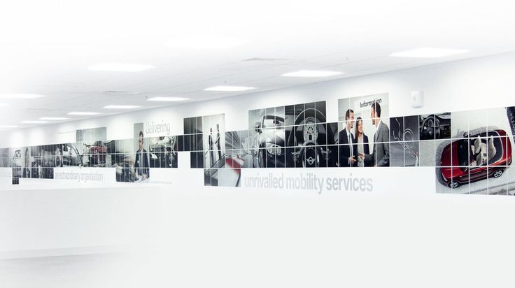 BMW Finance call centre wall graphics