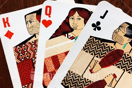 Historic New Zealand, Maori themed playing cards.