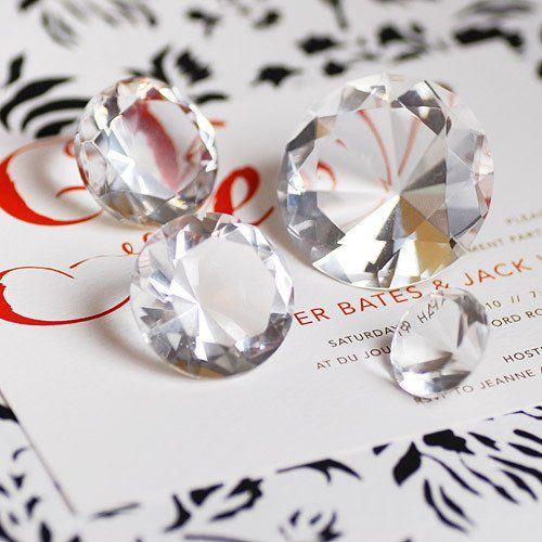 Assorted Crystal Diamond Table Decorations by Beau-coup