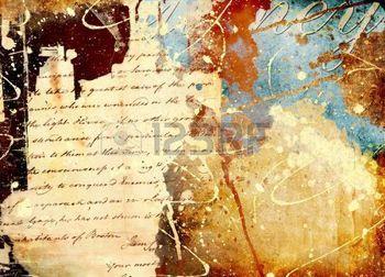 manoscritto: Sfondo in stile grunge con splatters mano e lettera
