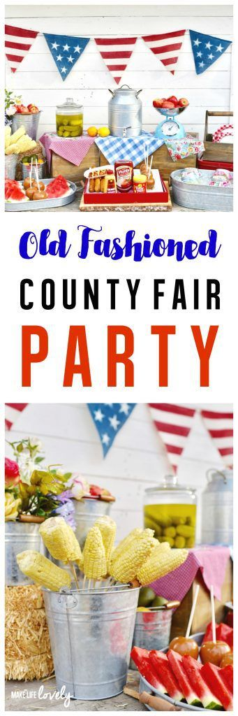 Old Fashioned County Fair Party and Homemade Corn Dogs Recipe