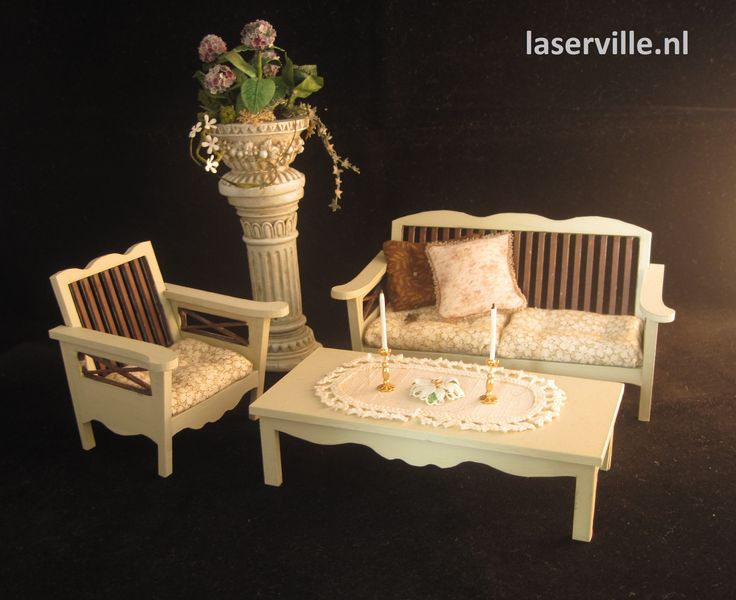 1:12 scale set, DIY and made from cardboard. Made by Laserville. www.melissasminiwereld.nl