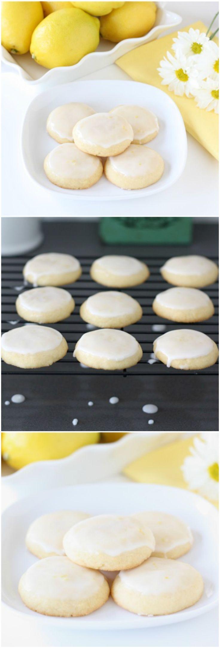 Lemon Glazed Cookies on twopeasandtheirpod.com The BEST lemon cookies!