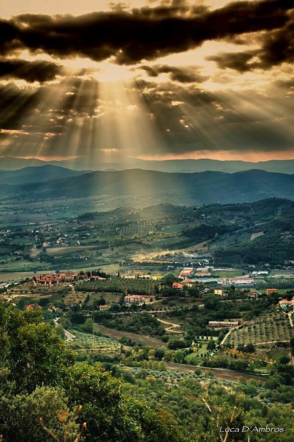 Italian landscape of Umbria