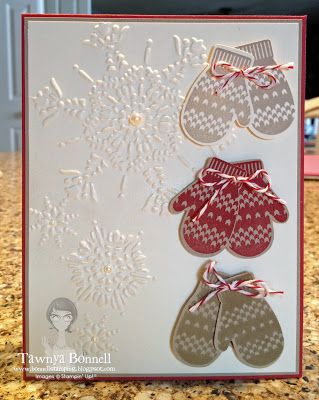 Cute Mitten Trio Christmas Card...Tawnya Bonnell: From My Pad To Yours.