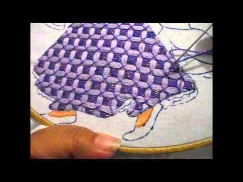 puntada fantasia vestido rapunzel - YouTube