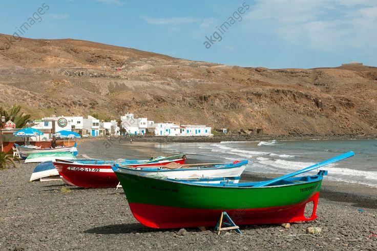 Fuerteventura (Kanarien) Spanien, Fuerteventura, Playa Pozo Negro, kleiner Fischerort mit zwei Fischlokalen.