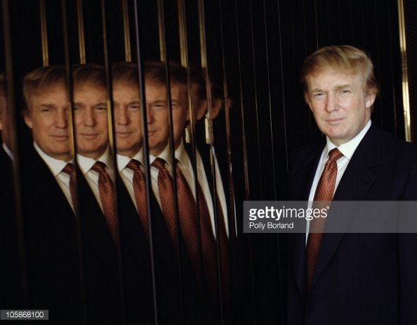 American business magnate Donald Trump in New York City, 9th January 2001.